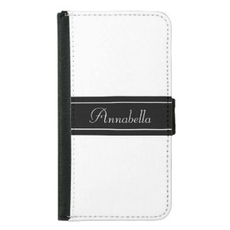 Personalized Black and White Wallet Phone Case For Samsung Galaxy S5
