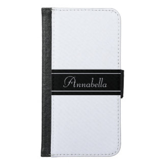 Personalized Black and White Wallet Phone Case For Samsung Galaxy S6