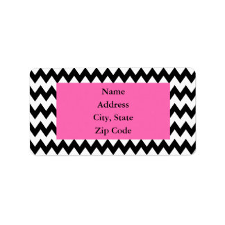 Personalized Black and White Zigzag Address Label