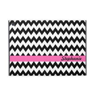 Personalized Black and White Zigzag iPad Mini Cover