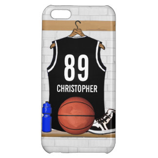 Personalized Black Basketball Jersey iPhone 5C Cover