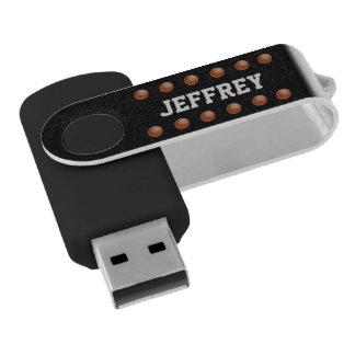 Personalized, Black Basketball USB Flash Drive