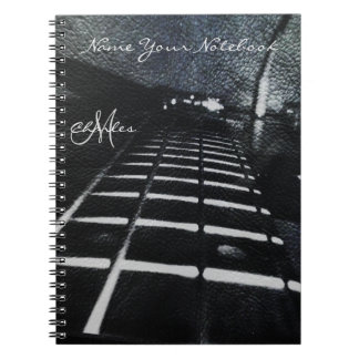 Personalized Black Bass Guitar Music Notebook