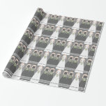 Personalized Black Bridal Shower Wrapping Paper