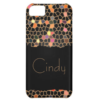 Personalized Black Broken Stained Glass Case For iPhone 5C