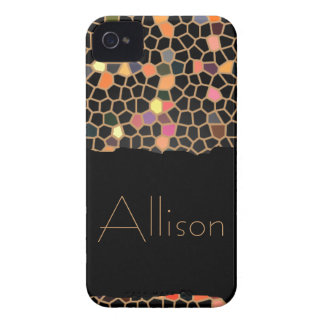Personalized Black Broken Stained Glass iPhone 4 iPhone 4 Cover