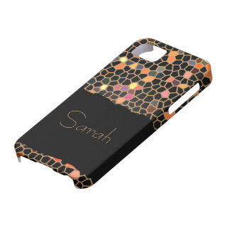 Personalized Black Broken Stained Glass iPhone 5 iPhone SE/5/5s Case