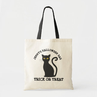 Personalized  Black Cat Halloween Candy Bag