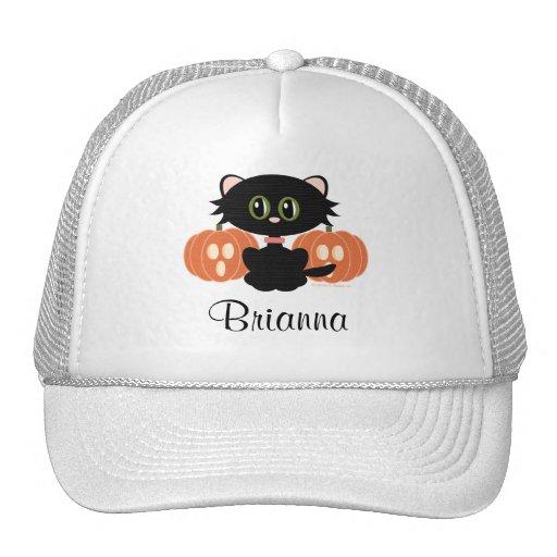 Personalized Black Cat Halloween Hat