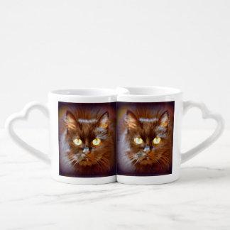 personalized black cats coffee mug set