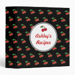 Personalized Black Cherry Recipe Binder