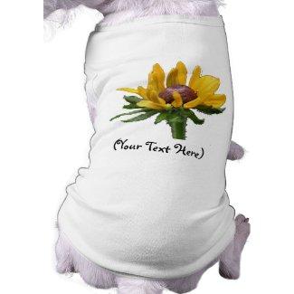 Personalized Black Eyed Susan Flower Dog T-Shirt petshirt