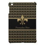 Personalized Black Gold Fleur de Lis iPad Mini Cases