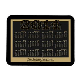 Personalized Black Gold Fleur de Lis Pattern 2014 Magnet