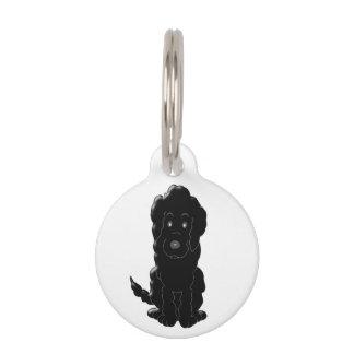 Personalized Black Goldendoodle Dog Design Pet ID Tag