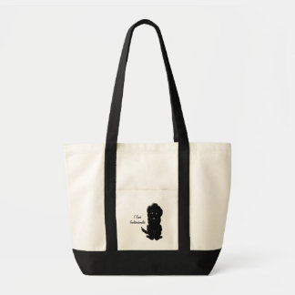 Personalized Black Goldendoodle Dog Design Tote Bag