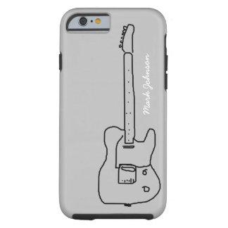 personalized black guitar tough iPhone 6 case