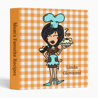Personalized Black Hair Female Chef Binder