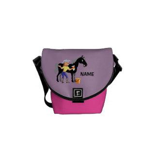 Personalized black horse groomer girly Bag