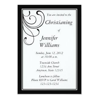 Personalized Black Invitation or Announcement