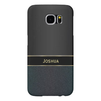 Personalized Black Iridescent Metal Galaxy S6 Case
