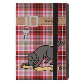 Personalized Black Lab and Stocking Cover For iPad Mini
