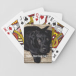 "Personalized Black Lab Dog Photo and Dog Name Playing Cards<br><div class=""desc"">Personalize this keepsake with your dog&#39;s or puppy&#39;s photo and dog&#39;s name (or other pet or person&#39;s photo/name). Text reads Best Dog Ever or add your own text - We love Bella (dog&#39;s name), dog&#39;s birthday or day of passing. Just click on &quot;customize&quot; to add your personalized text, change the...</div>"
