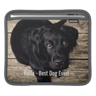 Personalized Black Lab Dog Photo and Dog Name Sleeve For iPads