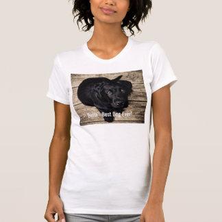 Personalized Black Lab Dog Photo and Dog Name T-Shirt