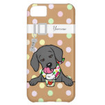 Personalized Black Lab Puppy Ice Cream Cover For iPhone 5C