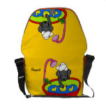 Personalized Black Lab & Rubber Ducks Cartoon Courier Bags