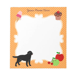 Personalized Black Lab with a little tongue Memo Notepad