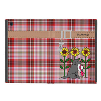 Personalized Black Lab with Sunflowers iPad Mini Covers