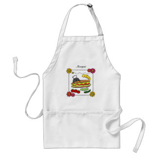 Personalized Black Labrador Bakery Cartoon Adult Apron