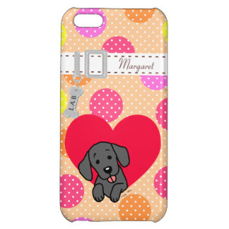Personalized Black Labrador Cartoon Cover For iPhone 5C