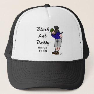 Personalized Black Labrador Daddy Trucker Hat