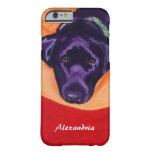 Personalized Black Labrador Painting iPhone 6 Case