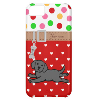 Personalized Black Labrador Puppy Cartoon Case For iPhone 5C