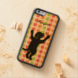 Carved ® iPhone 6 Bumper Wood Case with Labrador Retriever Phone Cases design