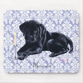 Personalized Black Labrador Puppy Prayer Mouse Pad