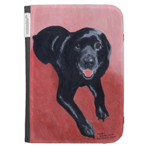 Personalized Black Labrador Smiling Kindle Cover