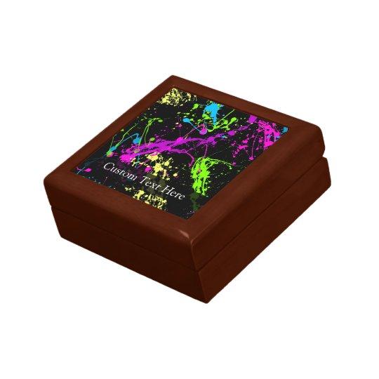Personalized Black/Neon Splatter Gift Box