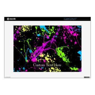 Personalized Black/Neon Splatter Skin For Laptop