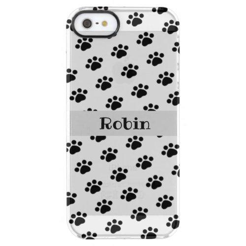 Personalized Black Paw Print Pattern Phone Case