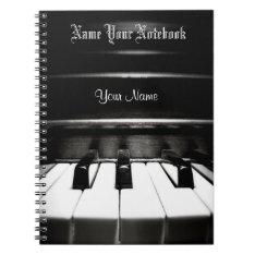 Personalized Black Piano Music Notebook at Zazzle