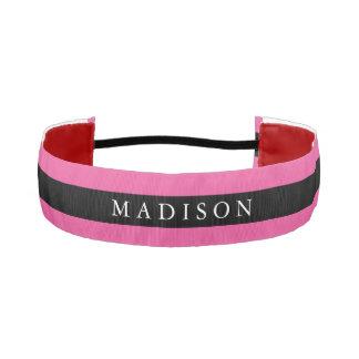 Personalized Black Pink Non Slip Headband for Girl