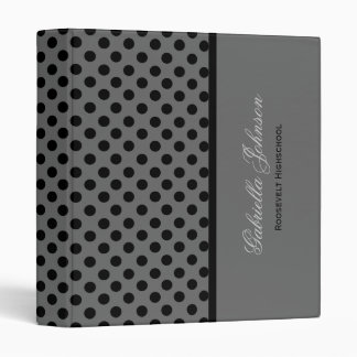 Personalized: Black Polka Dot Binder