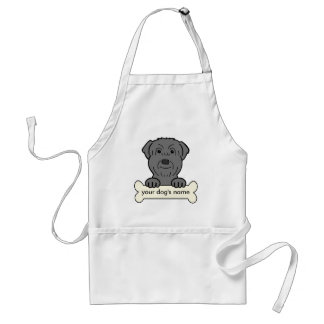 Personalized Black Russian Terrier Adult Apron