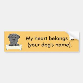 Personalized Black Russian Terrier Bumper Sticker