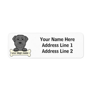 Personalized Black Russian Terrier Label